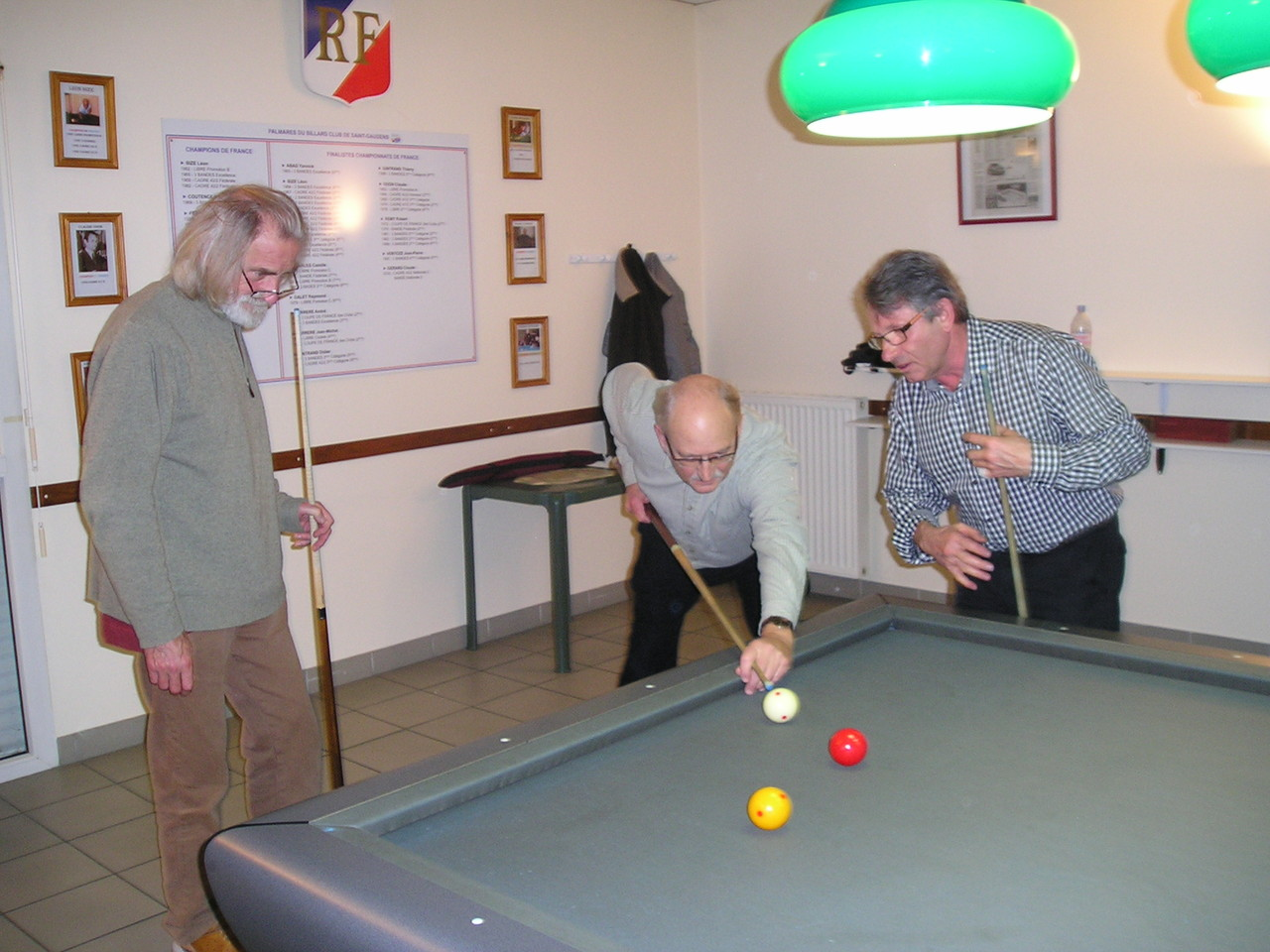 Au billard n°1 Mrs Agasse & Frood, animateur Mr Jublot
