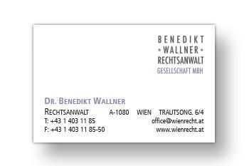Wallner Benedikt Visitenkarte