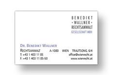 Benedikt Wallner Visitenkarte