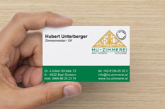 HU-Zimmerei Visitenkarte