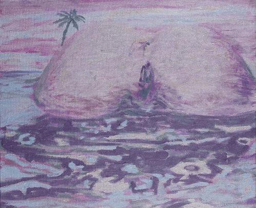 Laurent Gugli-Bahamass Island 46x38 cm acrylique sur toile