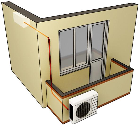 Установка блоков кондиционера на балконе: минусы и плюсы.