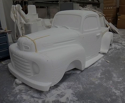 Modelo de Pick-Up americano de los años 50.