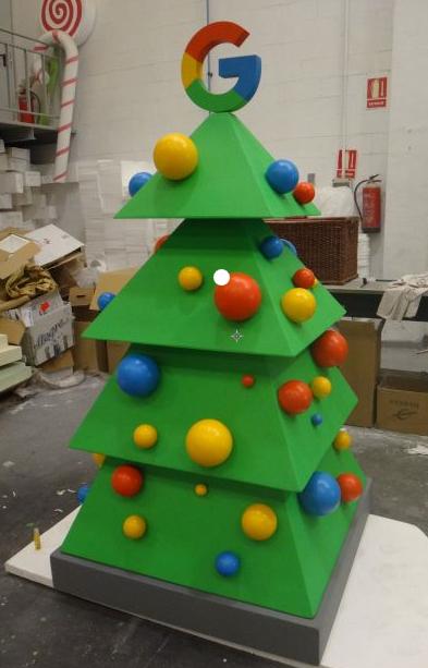 Logo Xmas Tree > Logo Árbol de Navidad corporativo