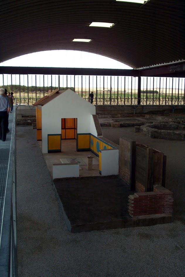 Modelo museográfico , para el Museo de Villas Romanas (MVR), Almenara - Puras, Valladolid