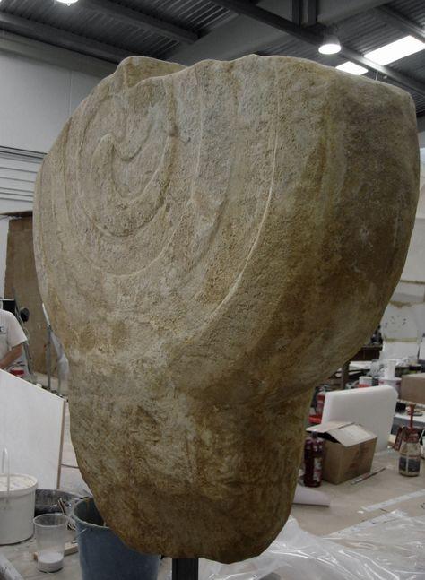 Estela , ficticio para exposición, en el Museo Romano de Oiasso, Irún