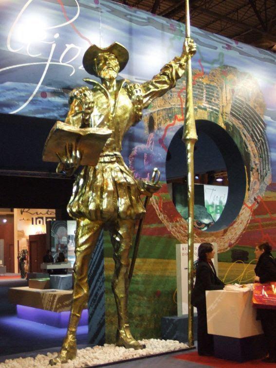 Don Quijote de 5 metros de altura, Promoción Ferial