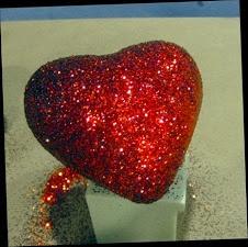 Corazón 3D completo, acabado escarcha glitter