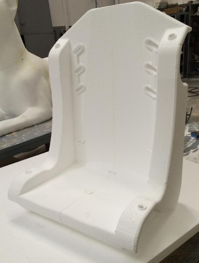 Asiento de Competición, Baqueta, Modelo para sacar molde y hacer tirada en resina