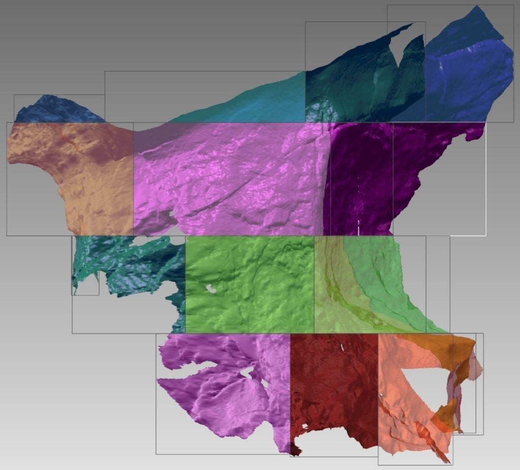 Modelo Scan 3D del Diedro de las Manos en la Cueva de Fuente del Salín