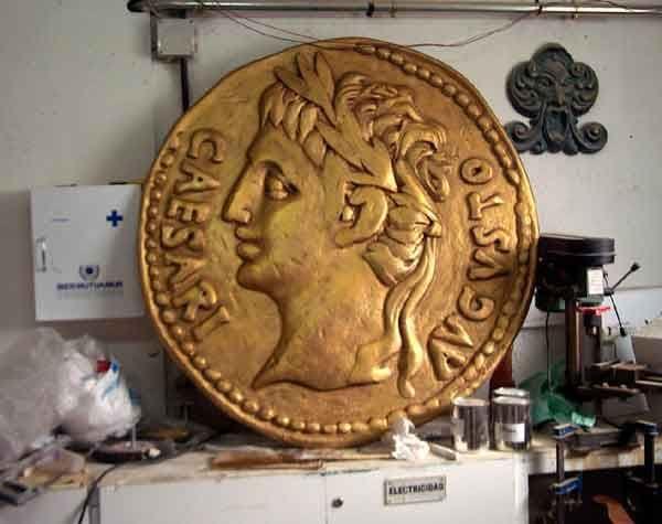 """Moneda Romana Gigante, para exposición """"Las Médulas"""""""