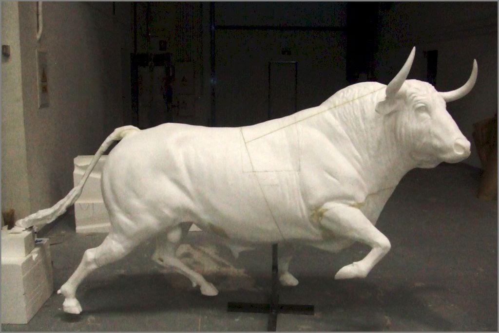 Toro de Lidia, modelo escalado a tamaño real, para fundición artística.