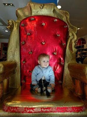 Trono, para photocall de Reyes Magos