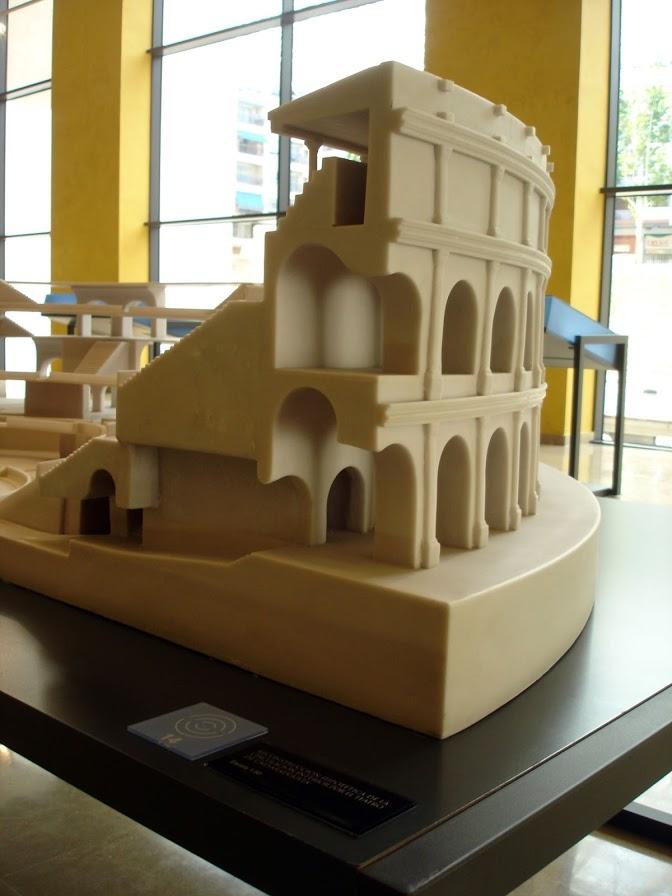 Modelo de circulación dentro de un teatro del imperio romano, Caesaraugusta.