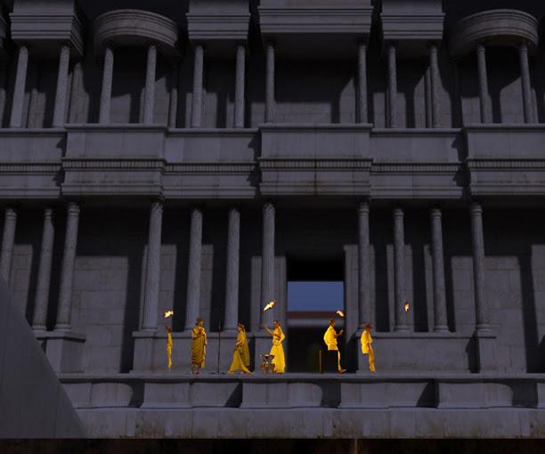 Modelo de Teatro Romano, para teatrillo virtual en el Museo de Caesaraugusta