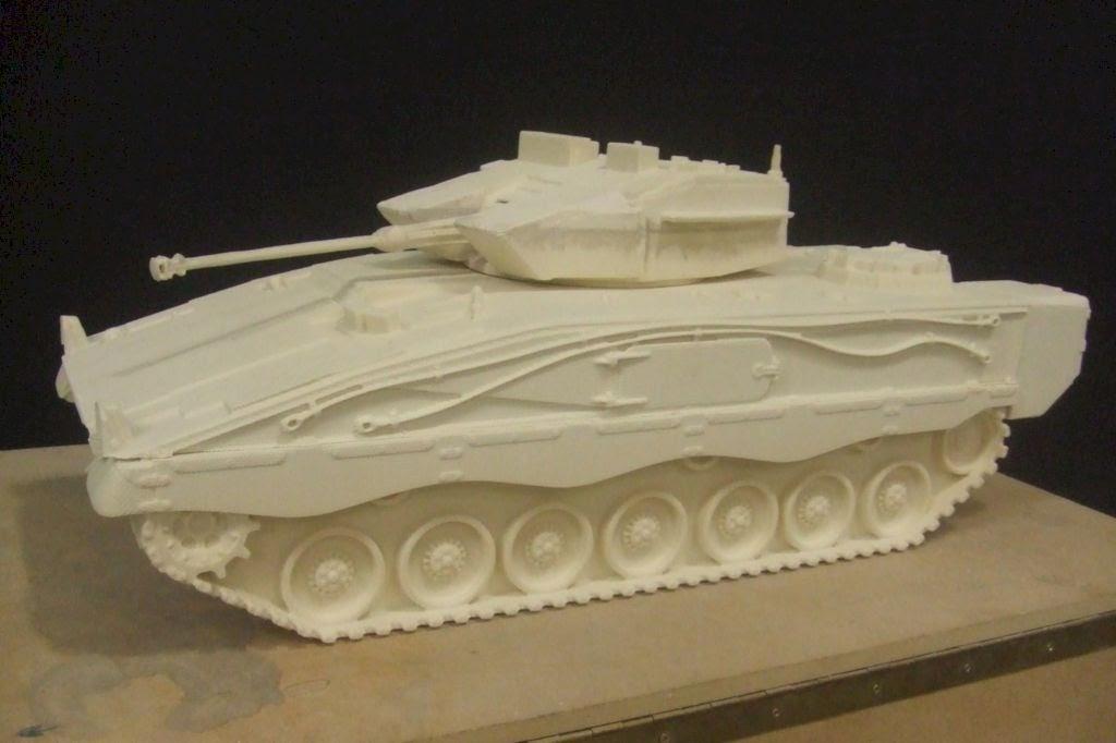 Modelo de Tanque, para maonumento (fundición en bronce)