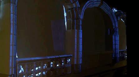Reconstrucción de una arcada de piedra modelo escala 1/1  para videomapping. Museo Municipal Madrid