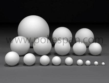 Puedes ver y comprar esferas de poliespan en todos los tamaños standard en nuestra tienda online www.poliespan.com