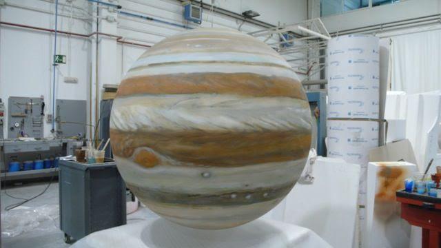 Planeta Júpiter Gigante, para exposición del sistema solar.