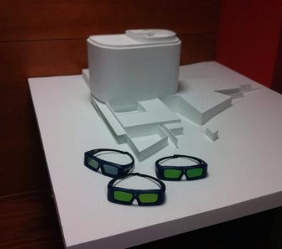 Maqueta de Edificio, para presentación de Proyecto en Video Mapping (Vector 001) Esta maqueta es volumetrica, en acabado blanco mate, para que reciba las proyecciones de textura de color de forma efectiva.