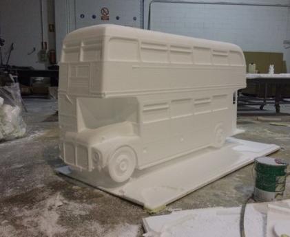 Autobus londinense Doubledecker, 120 cm de altura, para Stand de Agencia de Viajes.