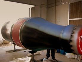 Botella Gigante 5 metros, Coca Cola, como reclamo