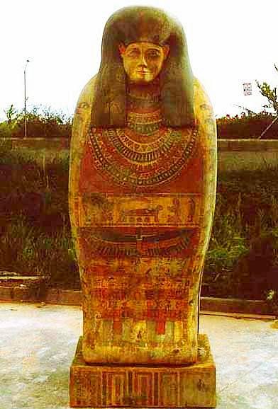Sarcófago Egipcio, para promción de Agencia de Viajes