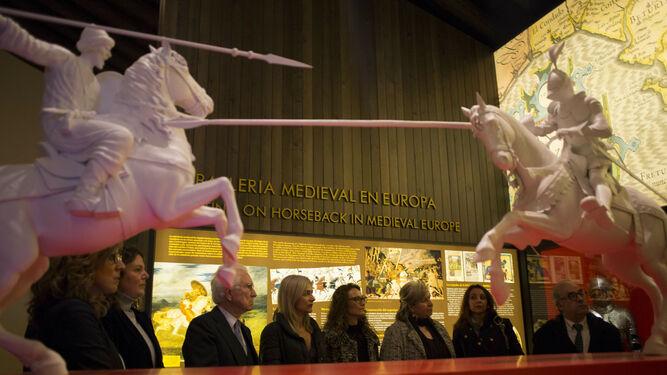 Sla de exposición en la Real Maestranza de Ronda, Caballeros montados.