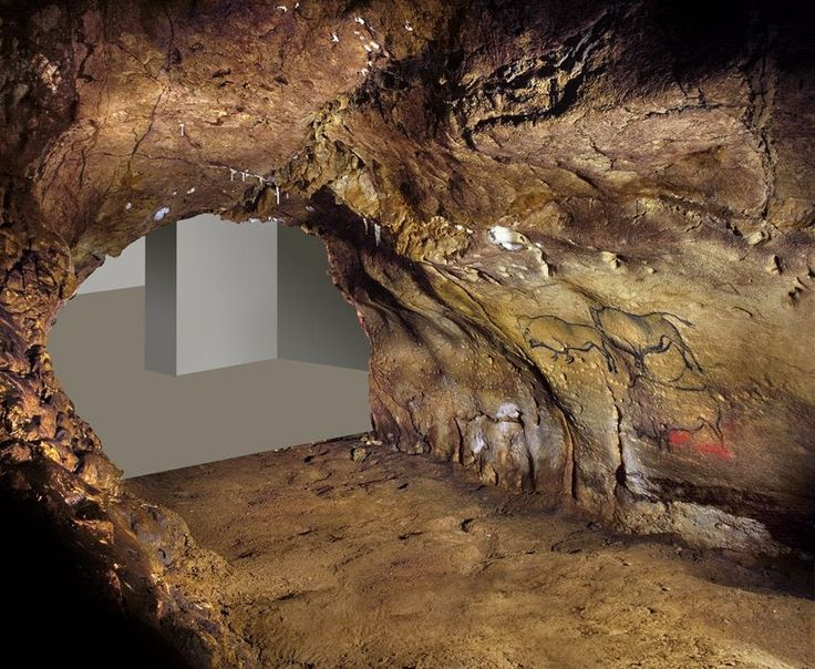 Modelo 3D del panel principal de la cueva La Covaciella