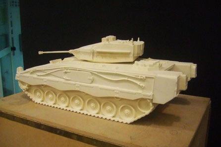 Modelo de tanque 80 cm, como modelo para fundición.