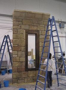 Muro de Piedra para Stand en Fitur