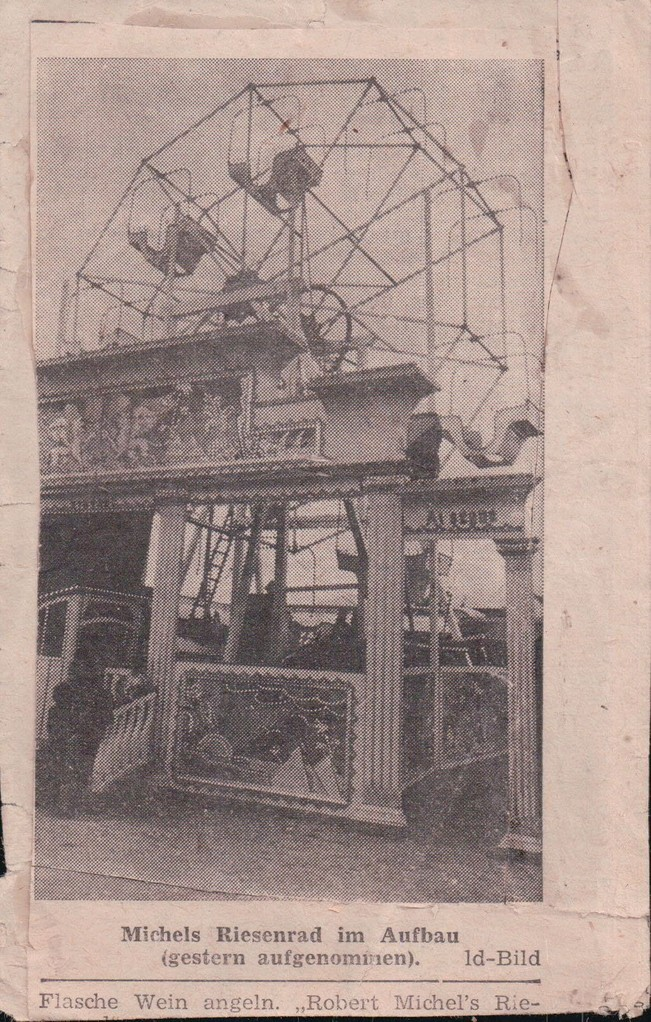 1935 Michels Riesenrad beim Aufbau