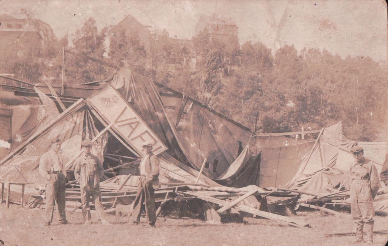Nach dem Grossen Sturm Karlsbad Juli 1922