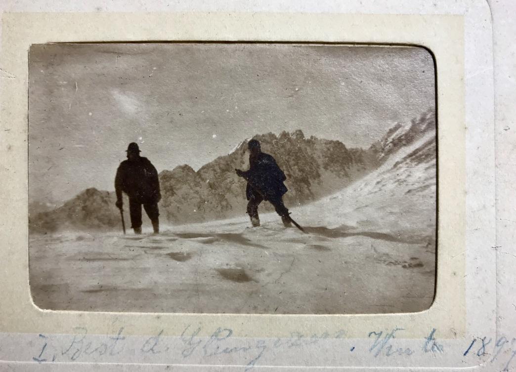 Alfons Siber & Josef Anker 1910 am Glungezer