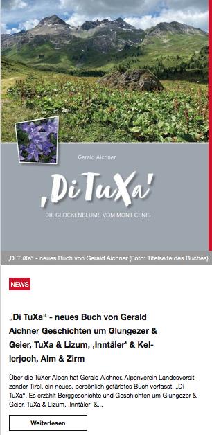 TuXer Alpen Buch, Di TuXa, TuXer Alpen, Hall, Glungezer, Lizum, Patscherkofel