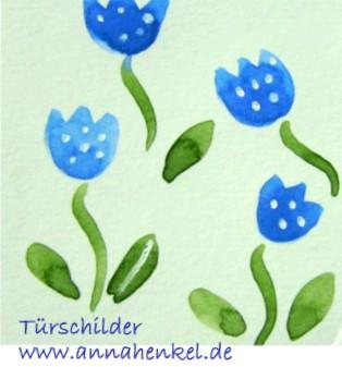 Skizze Tulpe blau