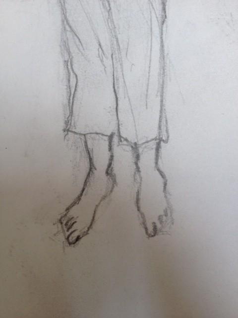 Jambes et pieds de Ricardo.