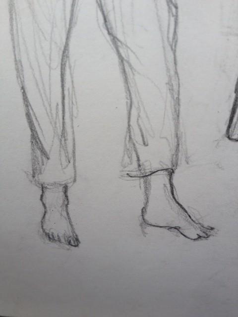 Jambes et pieds de Lindo.