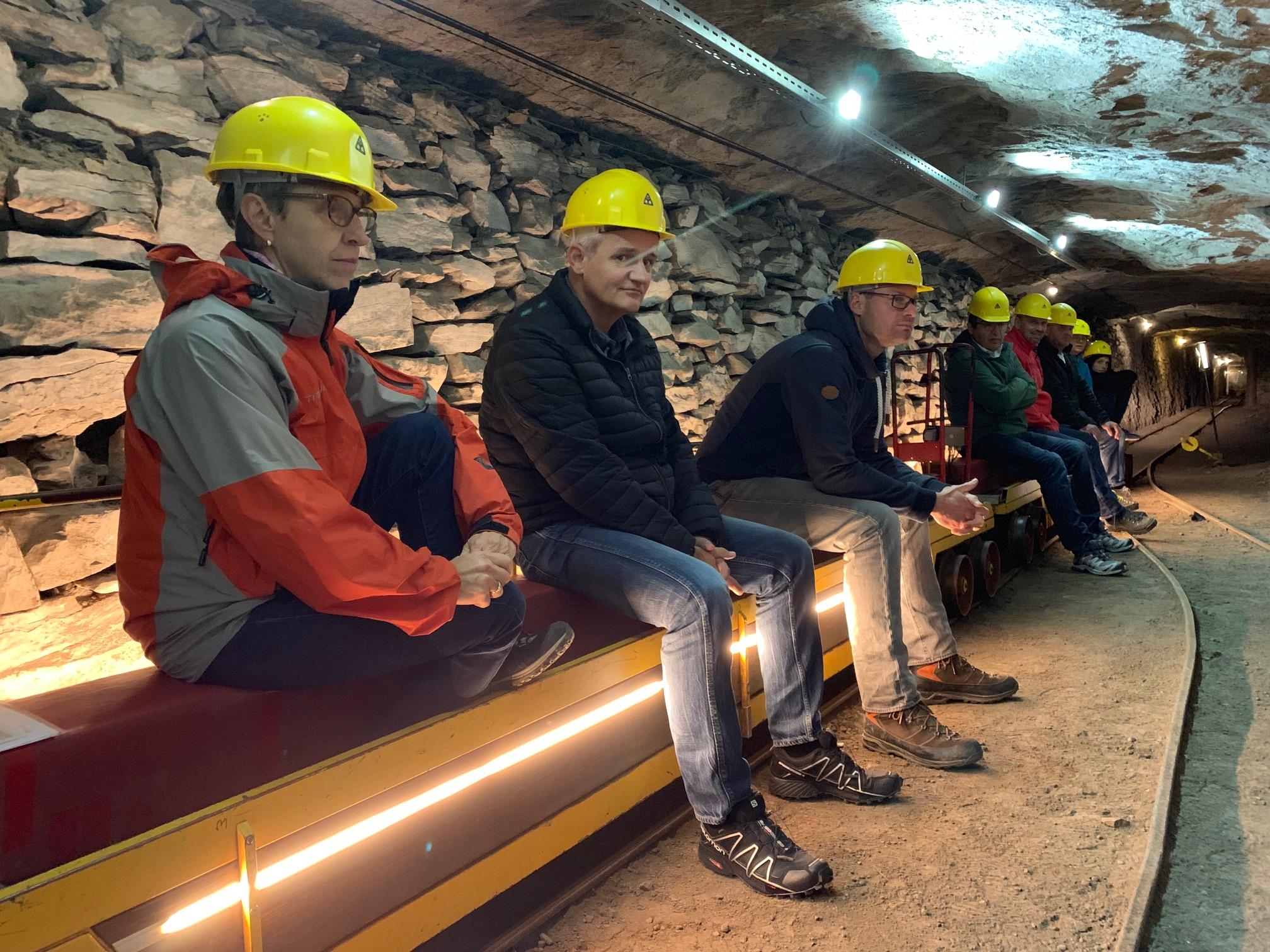Am zweiten Tag stand ein Besuch des Horgner Bergwerks Käpfnach auf dem Programm. Hier zu sehen (von links): Therese Henggeler, Dirk Wüstenmann, Tobias Schreijäg, Armin Schuler, Karl-Heinz Müller, Ueli und Heidi Brandenberger, Livio Bachmann