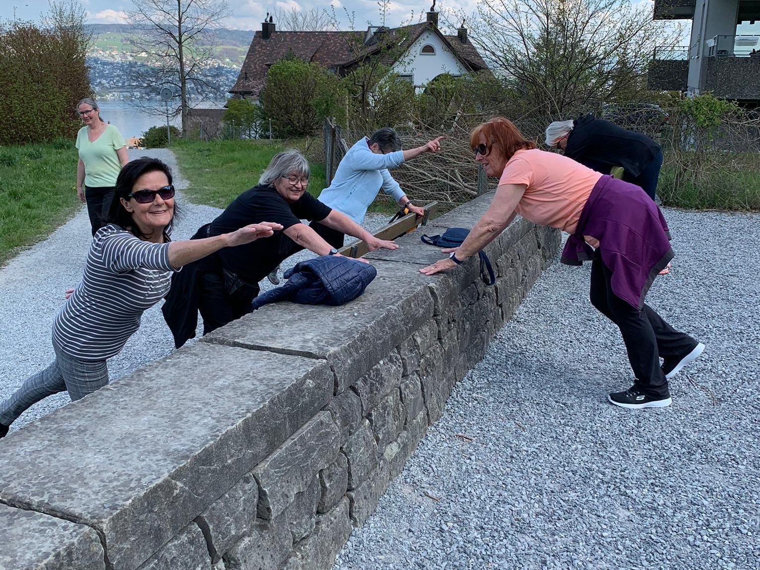 Outdoortraining der Seniorinnen