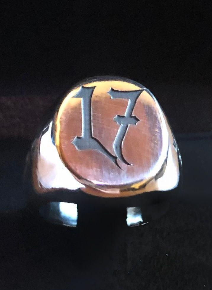 Signet Ring Personalized With Numbers