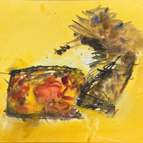 Adolf Frohner, Ohne Titel, 1985, Mischtechnik auf Leinwand, 130 x 100 cm