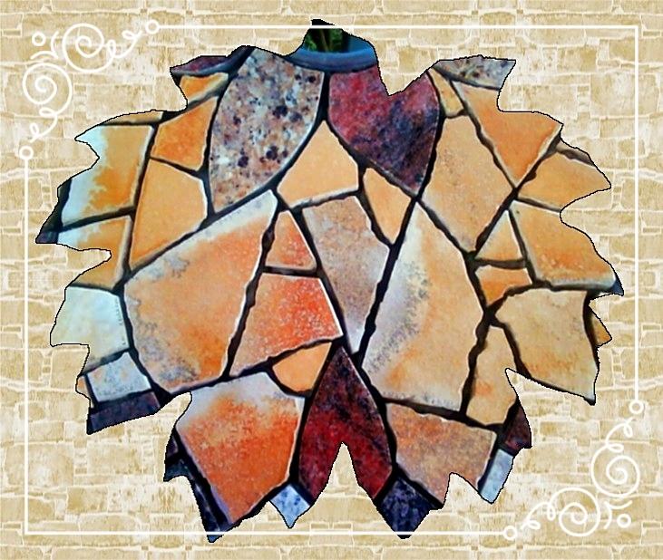 Rankgitter/Mosaik-Gartentisch