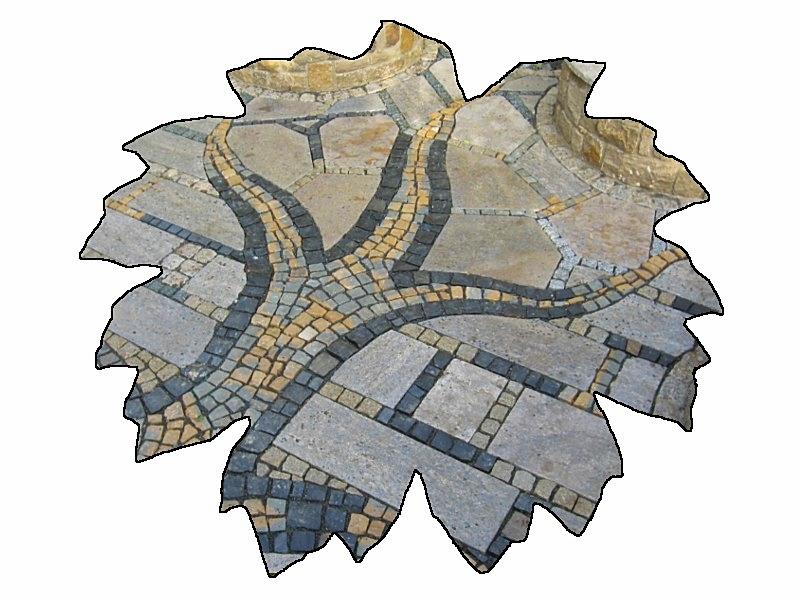 Mosaikpflasterarbeit