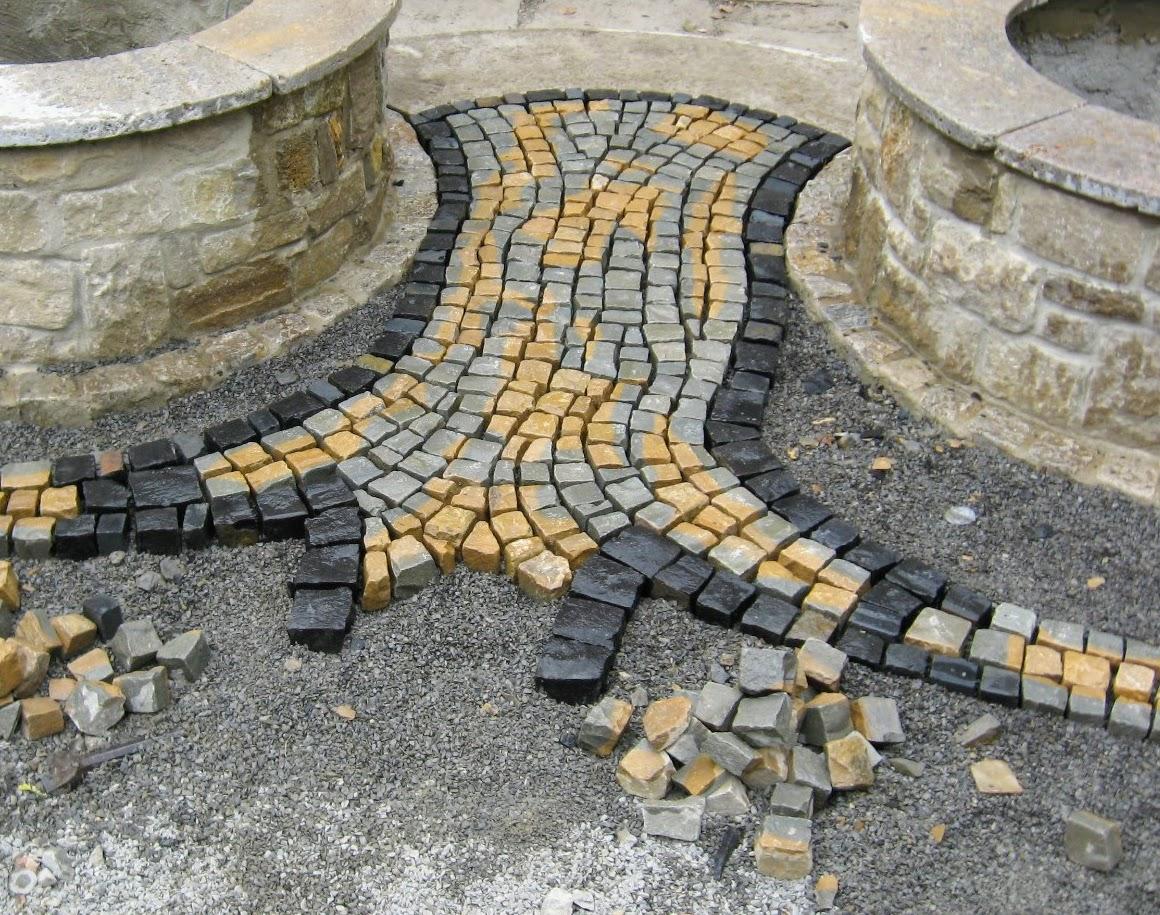 Mosaikpflaster/Zugang Sitzplatz