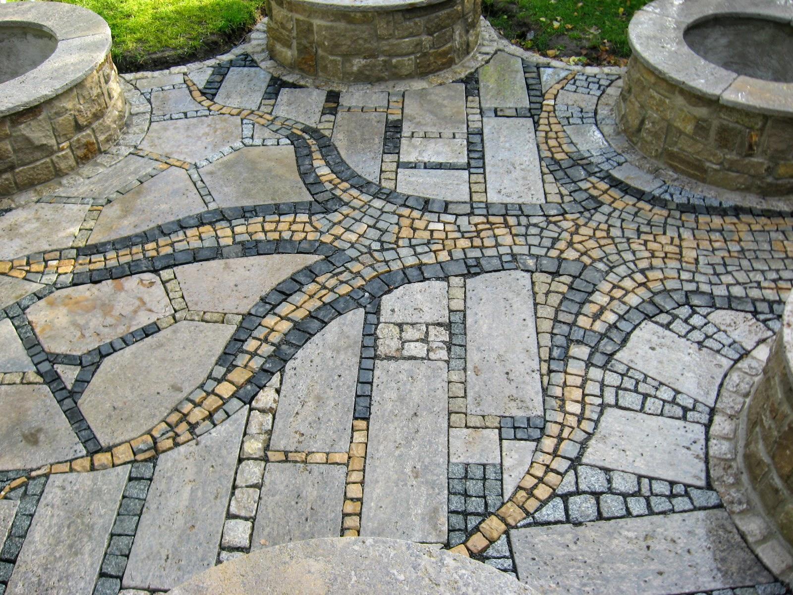 Terrasse, Mosaik/Platten-Kombinationen