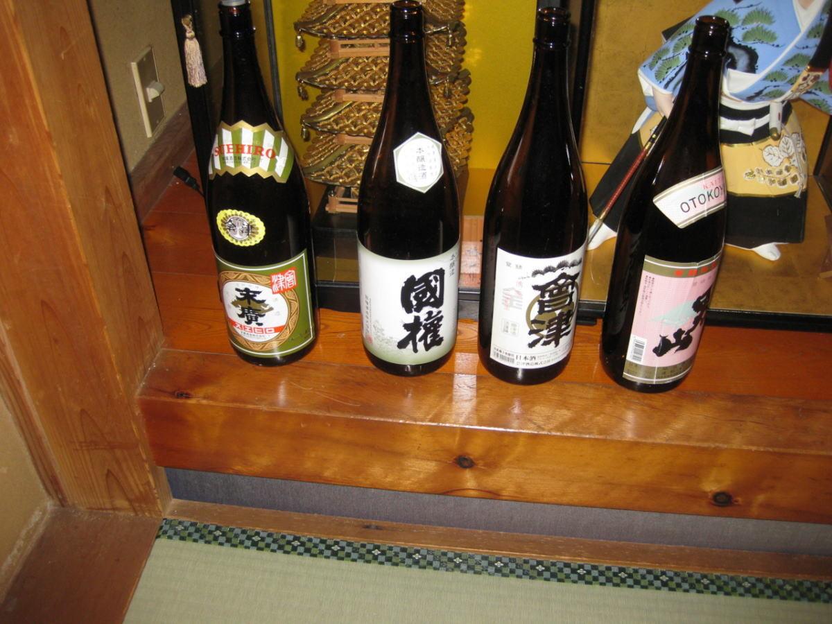 そして並んでいた南会津の地酒!