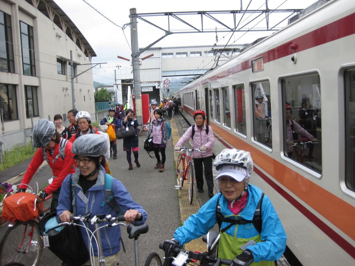 ようやく会津田島駅到着!
