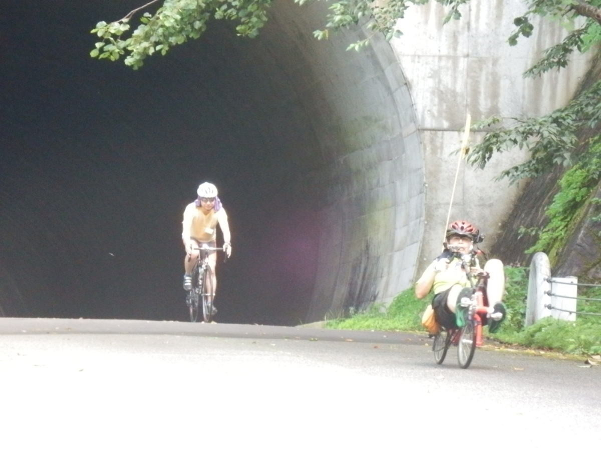 トンネルを抜けると頂上です