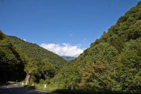ここからは、こんな景色の中を7kmのダウンヒル